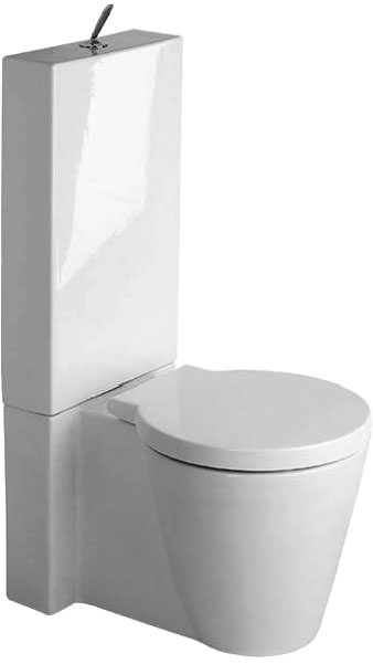 Large Image of Starck 1 Close Coupled Toilet With Cistern And Seat 640mm - 0233090064