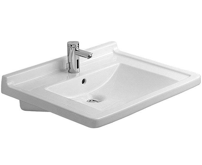 Duravit Wall Hung Basin : Image of Duravit Starck 3 Wall Hung Basin with Overflow 700mm ...