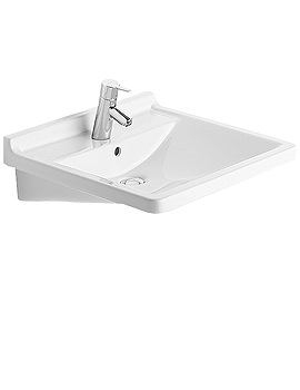 Related Duravit Starck 3 Washbasin With Overflow 600mm - 0309600000