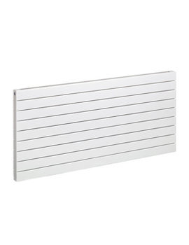2 White Horizontal Decorative Radiator 650 x 1400mm - DH 2 LO6 W