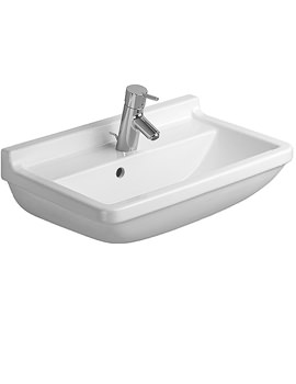 Starck 3 Compact Washbasin With Overflow 600mm - 0301600000