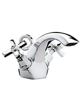 Art Deco Mono Basin Mixer Tap With Pop-Up Waste - D BAS C CD