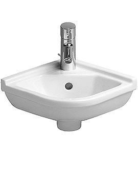 Starck 3 Corner Hand rinse Basin with Overflow 430mm - 075244