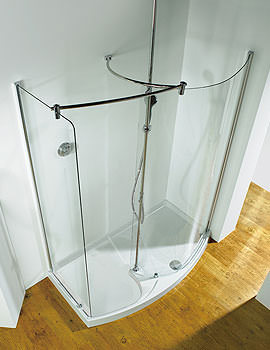 1400mm RH Curved Panel Walk-In-Corner Shower Enclosure