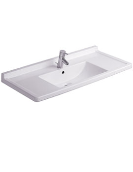 Starck 3 Washbasin With Overflow 1050mm - 030410