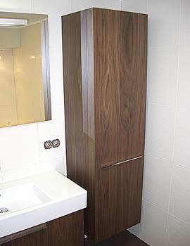 Related Duravit Fogo Tall Cabinet American Walnut 250x500mm - FO 9546