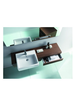 Image of Fogo Console With Drawer For Semi Recessed Washbasin 1300mm - FO838002424