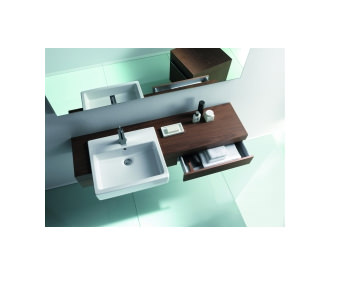 Large Image of Fogo Console With Drawer For Semi Recessed Washbasin 1300mm - FO838002424