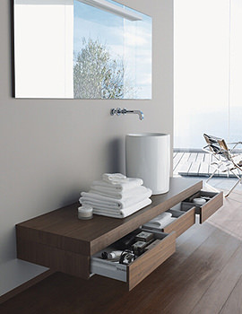 Image of Duravit Fogo Console Including Drawer 360 x 1600mm Macassar FO8385