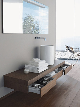 Large Image of Duravit Fogo Console Including Drawer 360 x 1600mm Macassar FO8385