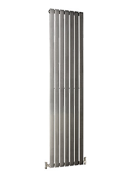 Image of DQ Heating Delta Brushed Stainless Steel Radiator 230 x 1600mm