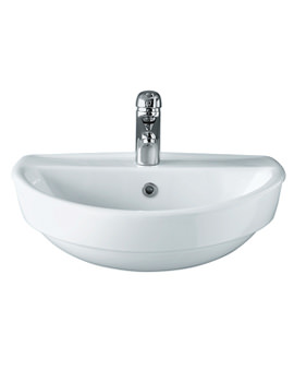 Refresh 550 x 440mm Semi-Recessed 1 Tap Hole Basin