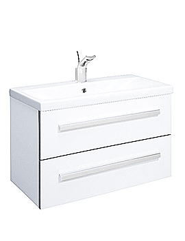 Bauhaus Glide White Gloss Wall Hung Basin Unit 780mm- GL8000WG