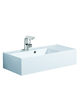 Bauhaus Elite White Gloss Basin 700mm - EL0002SRW