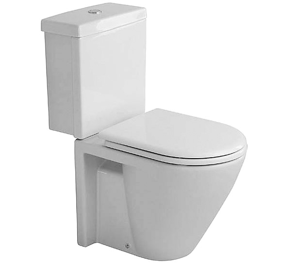 starck 2 close coupled toilet with cistern seat cover 640mm 023809. Black Bedroom Furniture Sets. Home Design Ideas