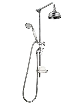 Image of Victorian Rigid Riser 5 Inches Flowmaster Shower Head And Kit - XS61500100