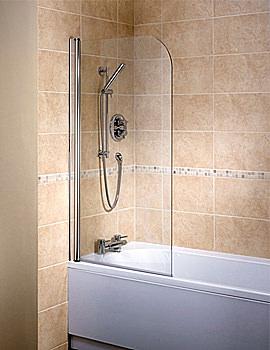 Bristan Java 1 Panel Bath screen 6mm Glass - J BS1L S