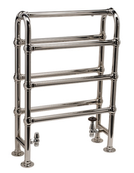 DQ Heating Hilborough Floor Standing Traditional Towel Rail 694 x 760mm