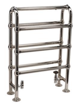 DQ Heating Hilborough Floor Standing Traditional Towel Rail 846 x 760mm