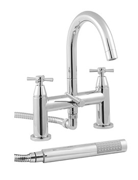 Image of Twyford Rival 2 Hole Deck Mounted Bath Shower Mixer Tap - RL5265CP