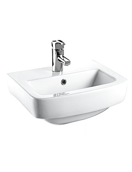 Related Bristan Qube 56cm 1 Hole Basin White - QU BASIN 1H W
