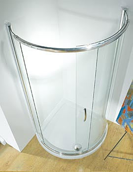 Infinite 910mm Curved Single Slider Shower Door Side Access