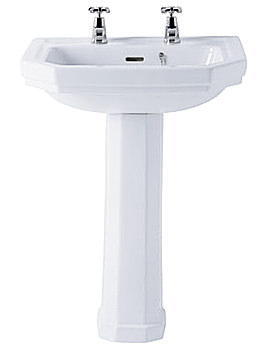 Ideal Standard Plaza 580mm 2 Taphole Basin - E366001