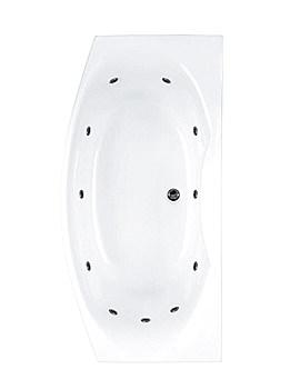 Carron Mistral 11 Jet Whirlpool Bath 1800 x 900mm
