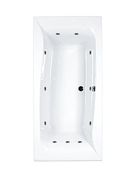 Carron Linea 11 Jet Whirlpool Bath 1900 x 900mm