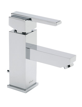 Vespa Mono Basin Mixer Tap With Pop Up Waste Chrome