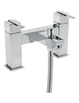 Tre Mercati Vespa Pillar Mounted Bath Shower Mixer Tap With Shower Kit