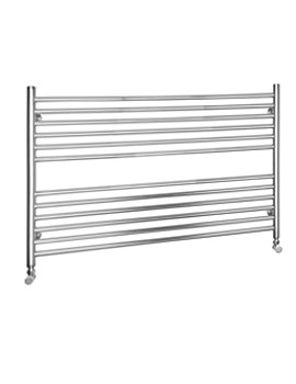 SBH Compact Wide Dual Fuel Towel Radiator 1000mm x 600mm - SS604