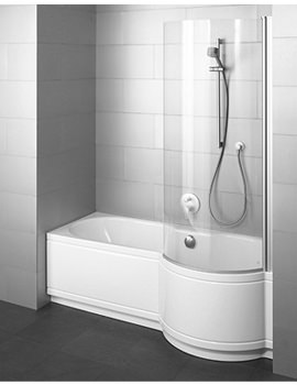 Image of Bette Cora Comfort Shower Bath 1700mm x 900mm - Niche Installation