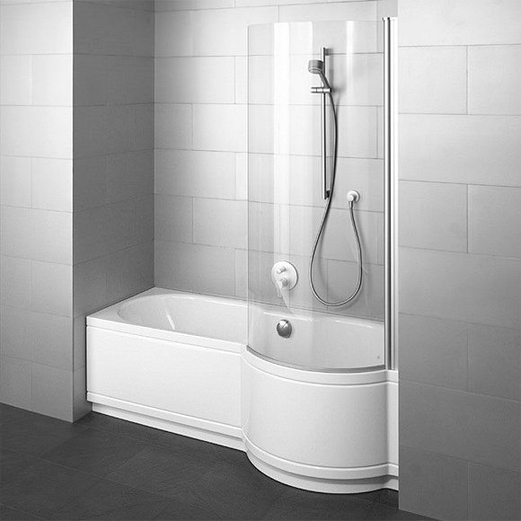 Large Image of Bette Cora Comfort Shower Bath 1700 x 900mm - Niche Installation