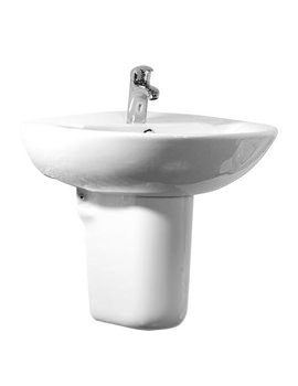 Micra 1 TH 565mm Basin And Semi Pedestal - SB100S - SMP100S