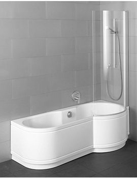 Cora Comfort Shower Bath 1600 x 900mm - Corner Installation