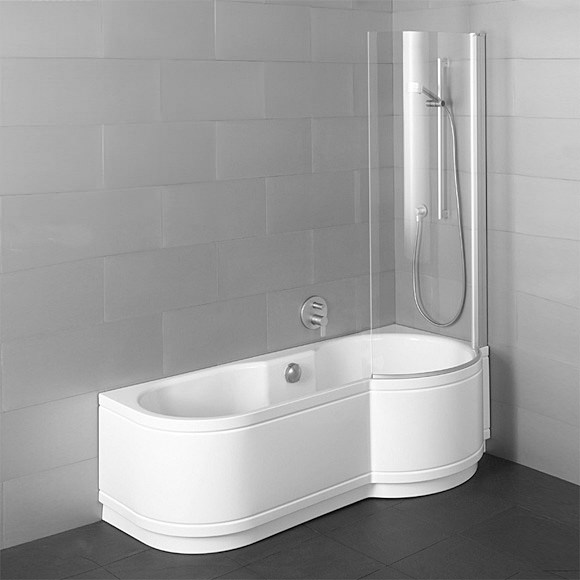 Large Image of Bette Cora Comfort Shower Bath 1600 x 900mm - Corner Installation
