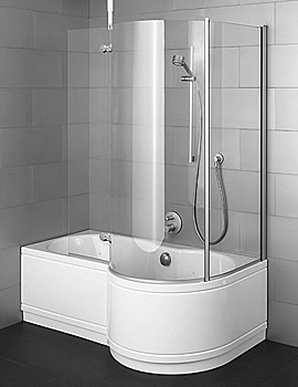 Image of Bette Cora Ronda Comfort Shower Bath 1600 x 900mm - 8500CERH