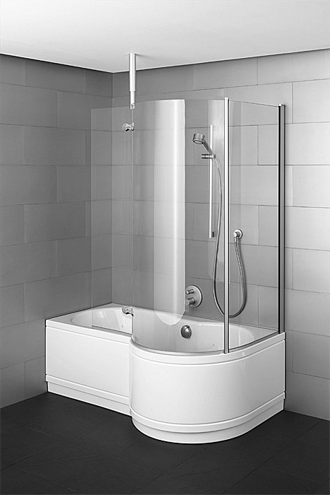 Large Image of Bette Cora Ronda Comfort Shower Bath 1600 x 900mm - 8500CERH