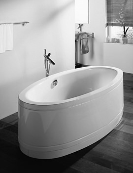 Bette Home Oval Comfort Freestanding Bath 1800mm x 1000mm - 8994CFXX