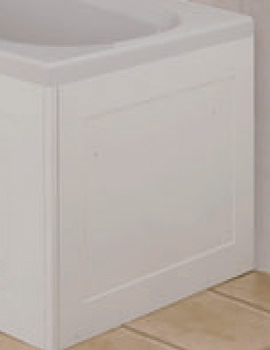 Unfold N Fit Bath End Panel Gloss White - WB995022