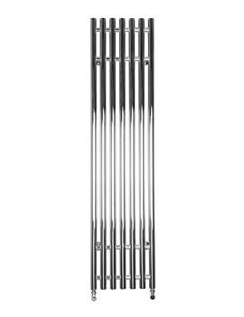 SBH Vertical Tubes Dual Fuel Towel Radiator 380mm x 1600mm - ST901V