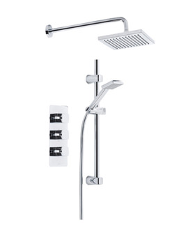 Logic Triple Inline Shower Valve With Handset And Head