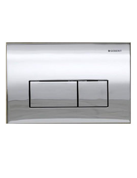 Kappa50 Dual Flush Plate Gloss Chrome - 115.260.21.1