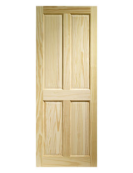 Related XL Internal Victorian 4 Panel Clear Pine Door - CPIN4P21M