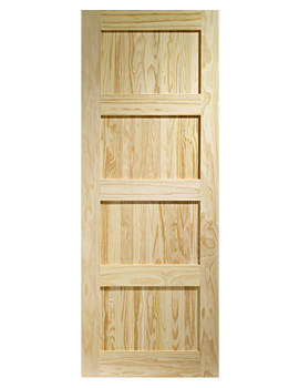 Related XL Internal Shaker 4 Panel Clear Pine Door - CPSHA4P27