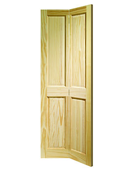 Related XL Internal Victorian 4 Panel Bi-Fold Clear Pine Door - CPBF4P27