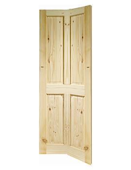 Related XL Internal Victorian 4 Panel Bi-Fold Knotty Pine Door - KPBF4P27