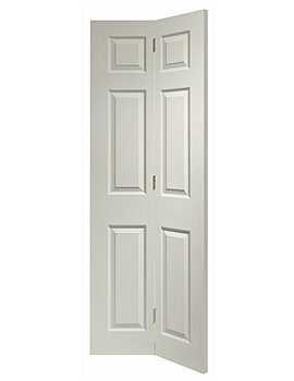 Related XL Internal Colonist 6 Panel Bi-Fold White Moulded Door -WMBF6P27