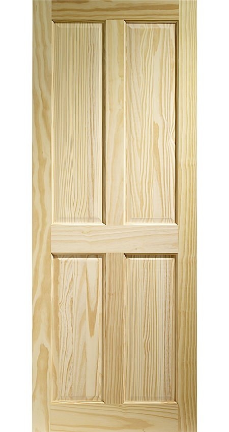 Large Image of XL Internal Victorian 4 Panel Clear Pine Fire Door - CPIN4P27-FD